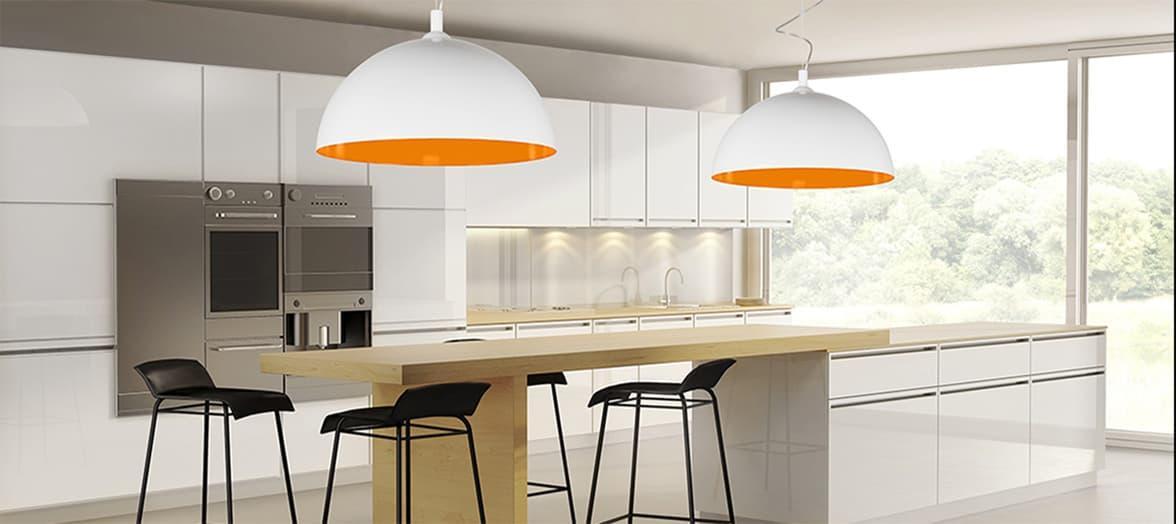 Nowoczesne oświetlenie kuchni, Lampy Hemisphere