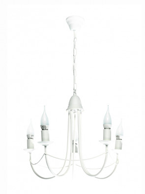 Lampa wisząca Nikozja 5 biały