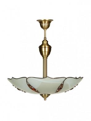 Lampa Rubin ampla -  2 płomienna lampa sufitowa z mosiądzu.