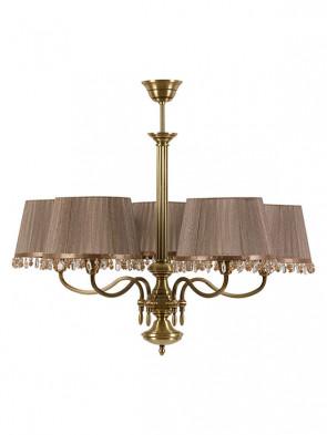 Lampa wisząca Werona -  5 płomienna lampa z abażurem.
