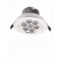 Lampa sufit. do zabudowy DOWNLIGHT LED 7 SILVER