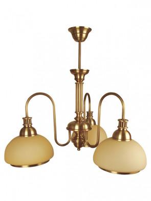 Lampa wisząca, żyrandol Olimp -  3 płomienny żyrandol z mosiądzu.