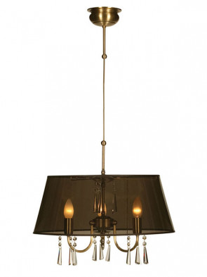 Lampa wisząca Luiza -  3 płomienna lampa wisząca z abażurem.