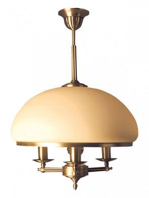 Lampa wisząca Topaz, klasyczna, mosiężna lampa wisząca 3 płomienna