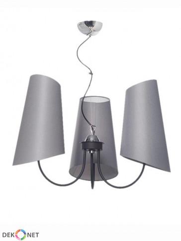 Lampa wisząca Victoria 3 popielata