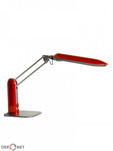 Lampa biurkowa MT3612, czerwona z mocną świetlówką