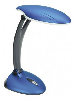 Lampa biurkowa 3327 niebieska z mocną świetlówką