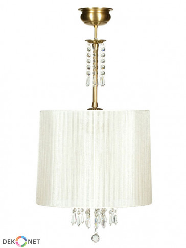Lampa wisząca Karen -  3 płomienna lampa wisząca z abażurem.