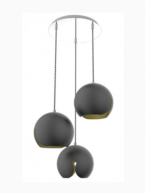 Lampa wisząca Malaga Black 3