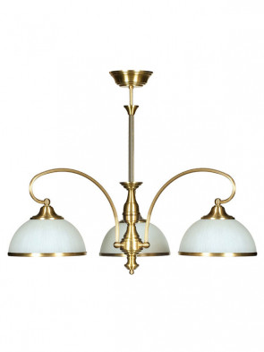 Lampa wisząca Dalia - 3 płomienna lampa sufitowa z mosiądzu.