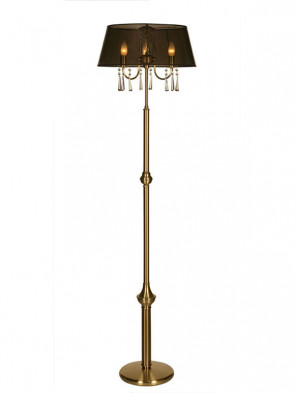 Lampa podłogowa Luiza -  3 płomienna lampa podłogowa z abażurem.
