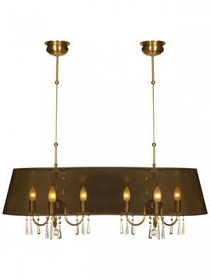 Lampa wisząca Luiza -  6 płomienna lmpa wisząca z abażurem.