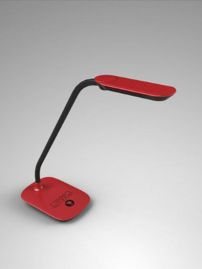Ledowa lampa biurkowa MT918 czerwona