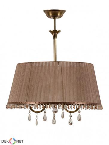 Lampa Dakota zwis – 3 płomienny, mosiężny zwis.