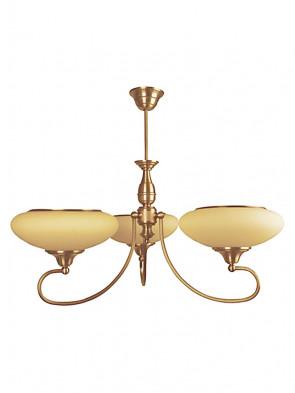 Lampa wisząca, żyrandol Beryl -  3 płomienny żyrandol z mosiądzu.