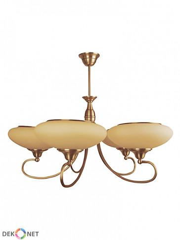 Lampa wisząca, żyrandol Beryl - 5 płomienny żyrandol z mosiądzu