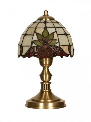 Lampa stołowa Atos -  1 płomienna lampa stołowa z mosiądzu, oprawki E27.
