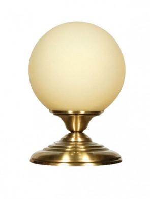 Lampa stołowa Lotos - 1 płomienna, mosiężna lampa stołowa, klosz w kształcie kuli.