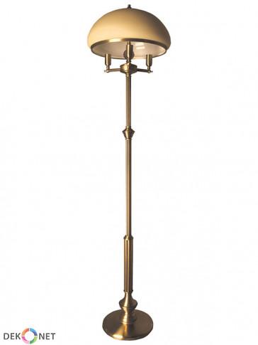 Lampa podłogowa Topaz, 3 płomienna lampa mosiężna, klasyczna