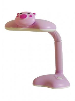 Dziecięca lampka biurkowa, nocna Świnka różowa