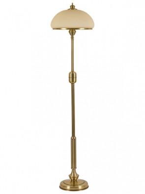 Lampa podłogowa Termoli  - 2 płomienna mosiężna lampa podłogowa