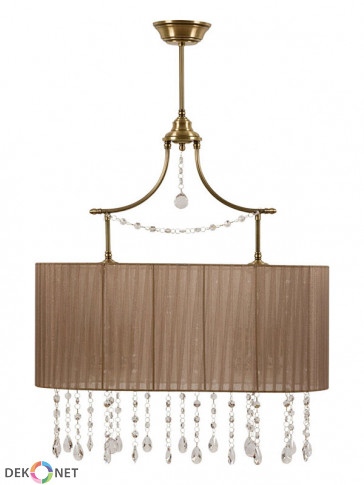 Lampa wisząca  Udine -  6 płomienna lampa z abażurami