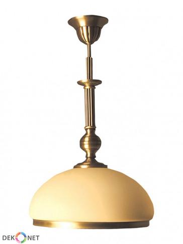 Lampa wisząca Topaz, klasyczna, mosiężna lampa 1 płomienna