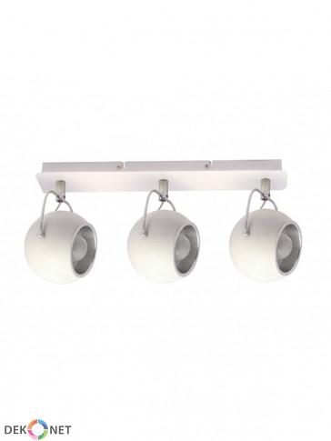 Lampa sufitowa, plafon, 3 płomienna Lobo biała