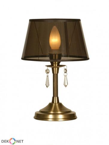 Lampa stołowa Luiza -  1 płomienna lampa stołowa z abażurem.
