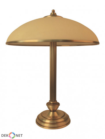 Lampa stołowa Olimp -  2 płomienna lampa stołowa z mosiądzu.