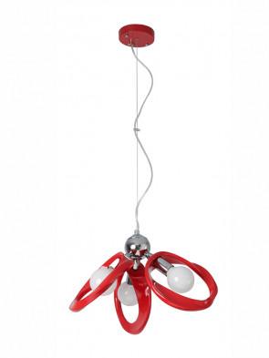 Nowoczesna lampa wisząca EMMA 3 czerwona