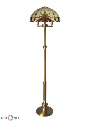 Lampa podłogowa Atos -  3 płomienna, mosiężna lampa podłogowa.