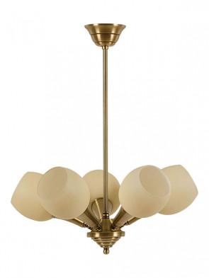 Lampa wisząca, żyrandol Delta -  5 płomienny żyrandol z mosiądzu.