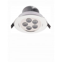 Lampa sufit. do zabudowy DOWNLIGHT LED 5 SILVER