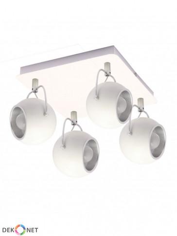 Lampa sufitowa, plafon 4 płomienny Lobo biała