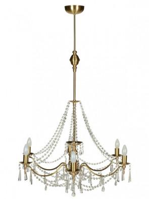 Lampa wisząca, żyrandol Irys - 6 płomienny żyrandol z mosiądzu.