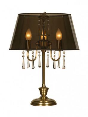 Lampa stołowa Luiza -  3 płomienna lampa stołowa z abażurem.