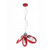Lampa wisząca Emma 3 czerwona