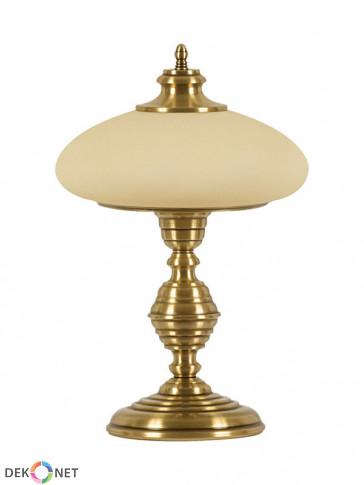 Lampa stołowa Termoli -  1 płomienna mosiężna lampa stołowa