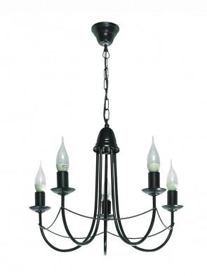Lampa wisząca Nikozja 5 czarna