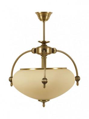 Lampa ampla Neptun -  2 płomienna mosiężna ampla