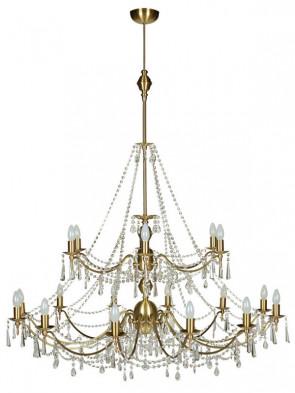 Lampa wisząca, żyrandol Irys – 18 płomienny żyrandol mosiężny.