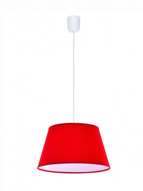 Lampa wisząca Kegle Czerwona