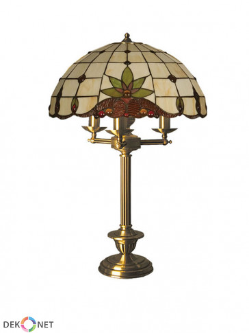 Lampa stołowa Atos -  3 płomienna lampa stołowa z mosiądzu.