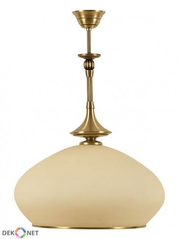 Lampa wisząca Neptun duża -1 płomienna, duża, mosiężna ampla