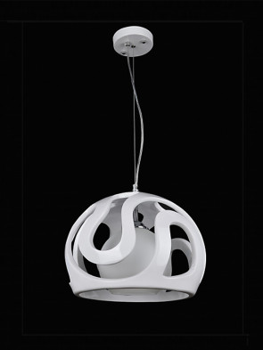 Lampa wisząca Akiba biała
