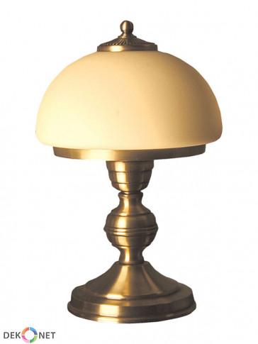 Lampa stołowa Topaz Mała, klasyczna, mosiężna lampa stołowa 1 płomienna