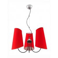Lampa wisząca Victoria 3 czerwona