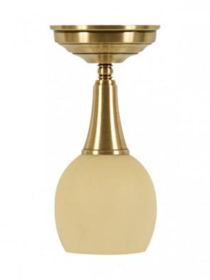 Lampa wisząca Delta - 1 płomienna lampa sufitowa krótka z mosiądzu.