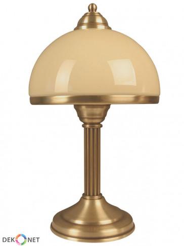 Lampa  stołowa Kier. Klasyczna mosiężna 1 płomienna lampa stołowa.